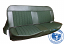 1960-66 Chevy & GMC Truck Houndstooth Bench Seat Cover with Horizontal Band, Green