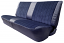 1981-91 Fullsize Chevy & GMC Crew Cab Truck Rear Vinyl & Cloth Bench Seat Cover without Horizontal Band