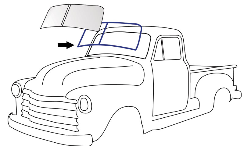 how to replace a 1952 chevy windshield