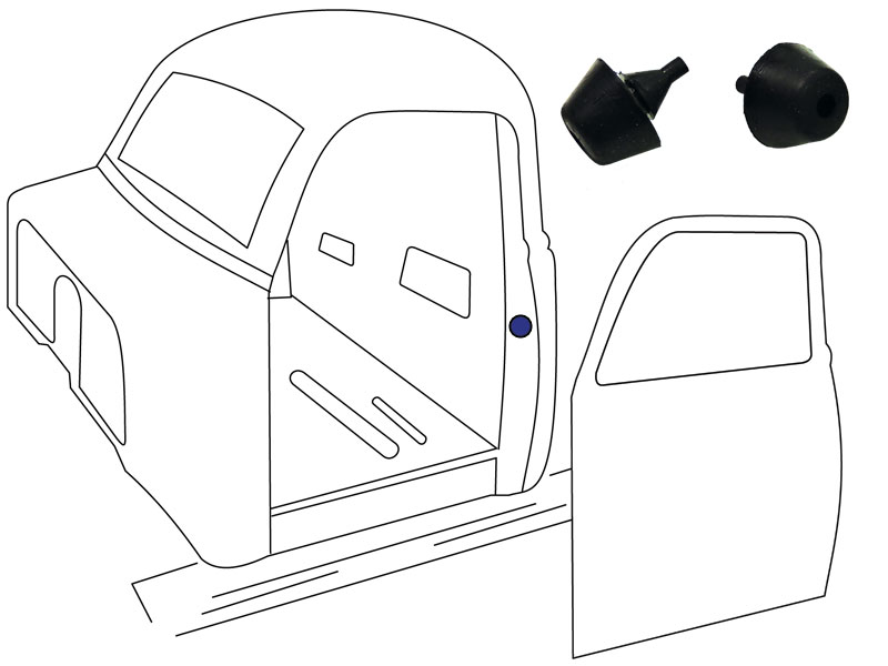 1952 55 Chevy Gmc Truck Rubber Door Bumper 2pc Set