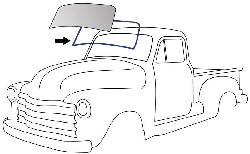 1954-55 1st Series Standard Windshield Rubber Seal Gasket Chevy GMC Trucks