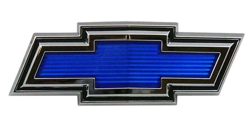 1971- 1972 Chevrolet C10 Truck Blue Bowtie Grille Emblem
