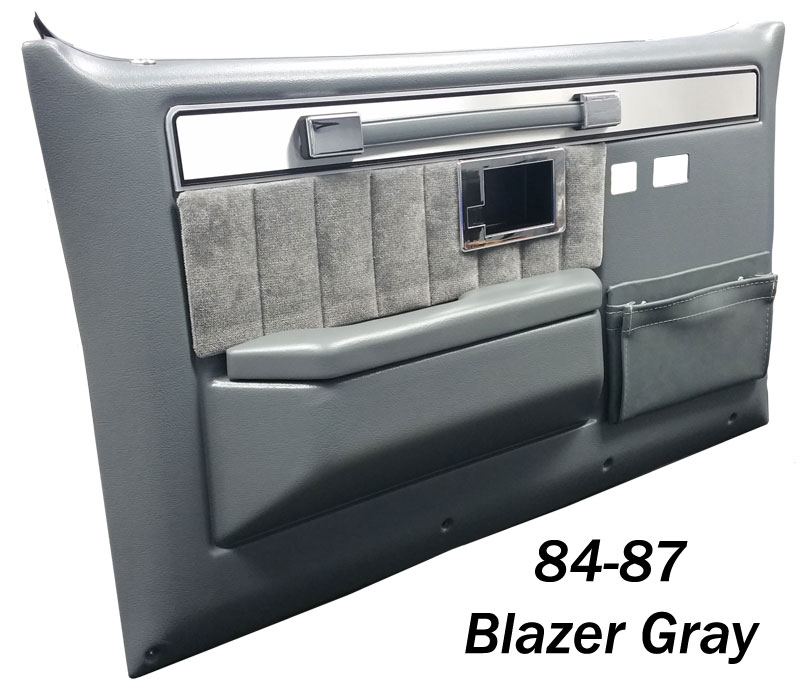 1981 1987 Chevy And Gmc Silverado Door Panels 1984 Blazer Gray