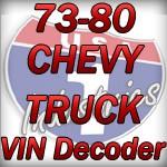1973 1980 Gmc Chevy Truck Vin Decoder Chevy Truck Parts