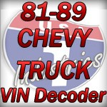 1981-1989 GMC & Chevy Truck VIN Decoder - Chevy Truck Parts