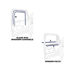 1981-87 Fullsize Chevy & GMC Truck Window Felt & Window Channel Kit