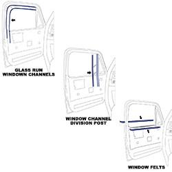 1973-80 Fullsize Chevy & GMC Truck Window Felt & Window Channel Kit