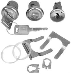 1969-72 Chevy & GMC Truck Outside Door Locks & Ignition Cylinder Set w/keys