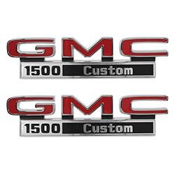 1971-72 GMC Truck Fender Side Emblems, 1500 Custom