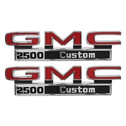 1971-72 GMC Truck Fender Side Emblems, 2500 Custom