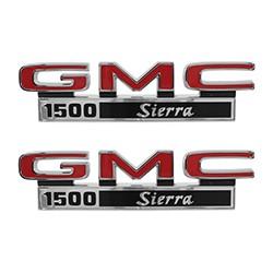 1971-72 GMC Truck Fender Side Emblems, 1500 Sierra
