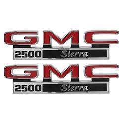 1971-72 GMC Truck Fender Side Emblems, 2500 Sierra