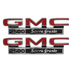 1971-72 GMC Truck Fender Side Emblems, 1500 Sierra Grande