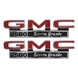 1971-72 GMC Truck Fender Side Emblems, 2500 Sierra Grande