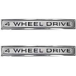 1968-72 Chevy & GMC Truck, Blazer & Surburban Fender Side Emblems, 4 Wheel Drive