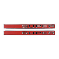 1971-1972 Chevy & GMC Truck Fender Side Emblems, Super