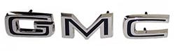 1967-72 GMC Truck Tailgate Applique Letters, GMC Black