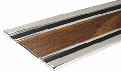 1969-72 Chevy & GMC Truck Fleetside Longbed Lower Body Side Molding Kit, Woodgrain w/Metal Clips