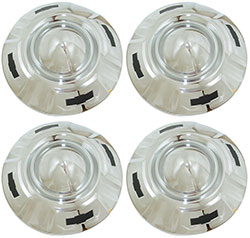 1957-60 CHEVY Truck Chrome Hubcap Set, Black Bowties