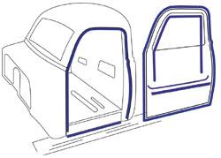 1947-48 Chevy & GMC Truck Door Weatherstripping Kit