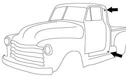 1947-51 Chevy & GMC Truck Rubber Door Bumpers