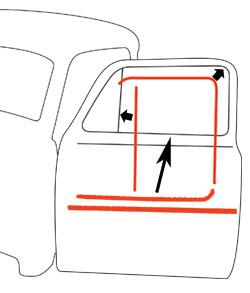 1951-55 Chevy Truck & GMC Truck Window Felt & Window Channel Kit