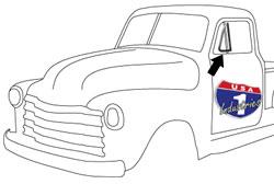 1951-55 Chevy & GMC Truck Vent Window Seals