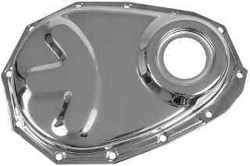 1954-62 Chevy & GMC Truck Timing Chain Cover 6 cly. Chrome