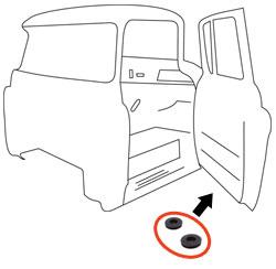 1955-59 Chevy & GMC Truck Lower Door Drain Plugs