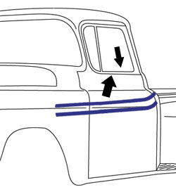 1955-59 Chevy & GMC Truck Beltline Window Felts