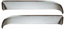 1955-59 Chevy & GMC Truck Window Visor Shades, Stainless Steel, Pair