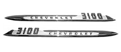 1955 CHEVY Truck 3100 Fender Side Emblem, Pair