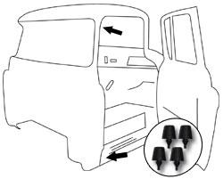 1960 63 chevy gmc truck door rubber bumper 4 pc set chevy truck 1960 Ford Pickup Truck 1960 63 chevy gmc truck rubber door bumpers