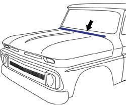 1960-66 chevy  u0026 gmc truck hood to cowl seal