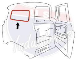 1960-66 Chevy & GMC Truck Small Rear Window Seal with Chrome Lockstrip