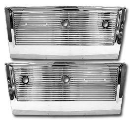 1967-71 Chevy & GMC Truck Chrome Door Panels, Pair