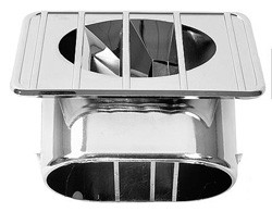 1967-72 Chevy & GMC Truck Defroster Top Vent Chrome, Right