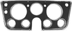 1967-68 Chevy & GMC Truck Dash Bezel, Black with Chrome Edges