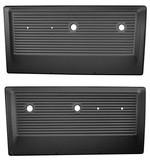 1967-71 Chevy & GMC Truck Black Metal Door Panels, Pair