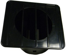 1967-72 Chevy & GMC Truck Defroster Top Vent Black, Right
