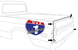 1967-72 Chevy & GMC Truck Fleetside Tailgate Bumpers