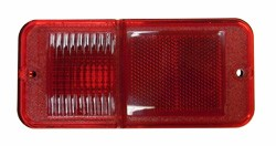1968-72 Chevy & GMC Rear Red Side Marker Lamp Lens without Trim. (each)