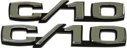 1969-70 Chevy Truck C-10 Fender Emblems with Fastners