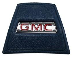 1969-72 GMC Truck Dark Blue Horn Cap with Red GMC logo