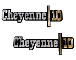 1973-74 Chevy Truck CHEYENNE 10 Fender Emblems