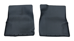 1973-87 Fullsize Chevy & GMC Black Front Rubber Floor Mat 2WD, Pair