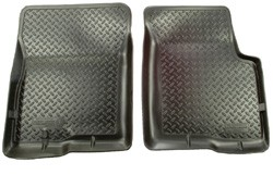 1973-87 Fullsize Chevy & GMC Black Front Rubber Floor Mat 4WD, Pair