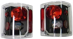 1973-87 Fullsize Chevy & GMC Fleetside Custom Black Tail Light Assembly, Pair