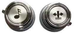 1975-87 Fullsize Chevy & GMC Truck Radio Knobs, Inner & Outer set