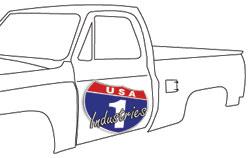 1979-87 Fullsize Chevy & GMC Truck Gas Door Bumper, each
